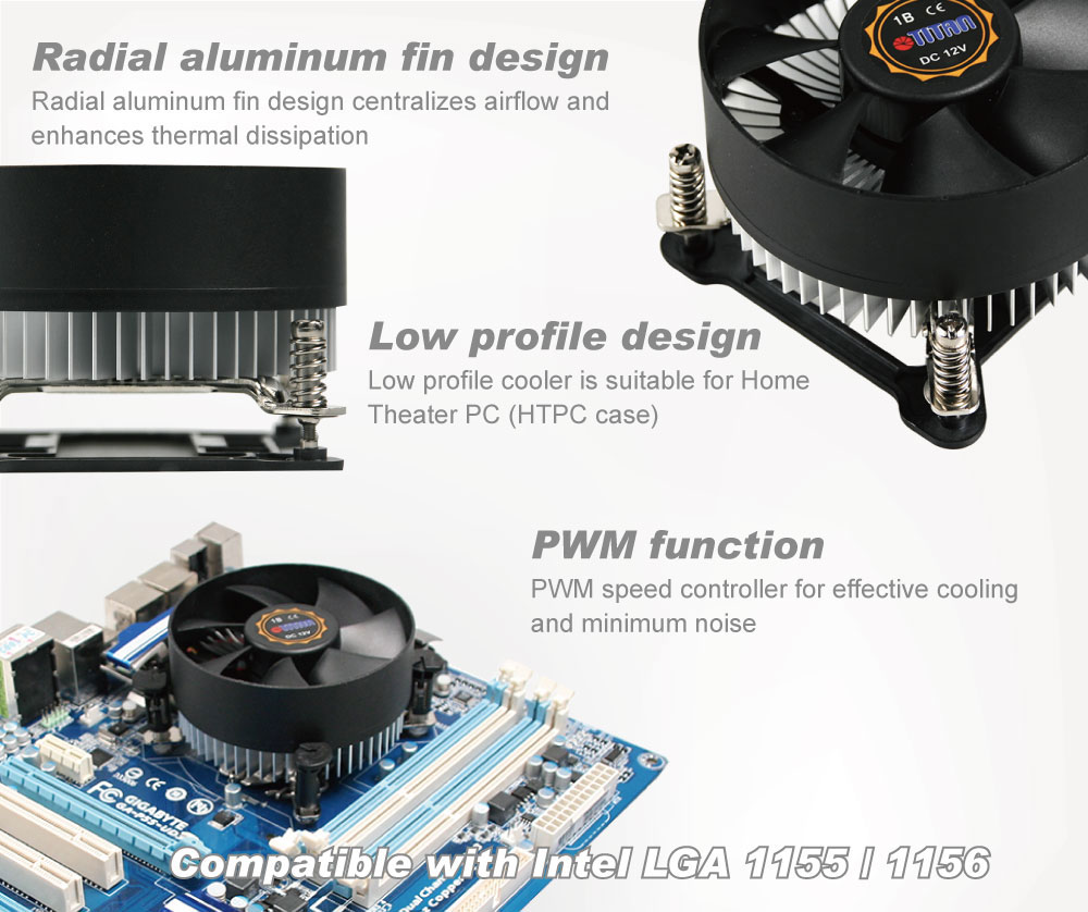 TITAN / CPU Cooler / CPU Cooling / CPU Frozen / Frozen Computer / CPU / CPU Heatsink / Heat Sink / Heat Transfer / Heat Dissipation / Dissipate Heat / Thermal Solution / Thermal Transfer / Thermal Dissipation / Thermal Cooling / Cooling Fan / CPU Fan / Silent Fan / Aluminum Fins / Cooling Fins / System Cooling / Intel Platform / AMD Platform / Intel LGA 1155 / Intel LGA1 156