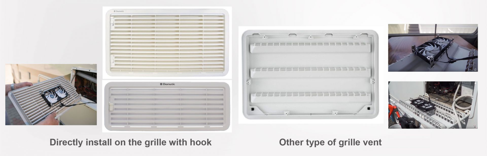 RV fridge ventilation grille types