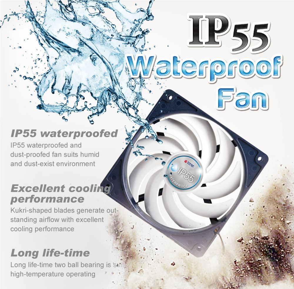 waterproof fan, dustproof fan, IP55 cooling fan, 120mm cooling fan, cooling fan
