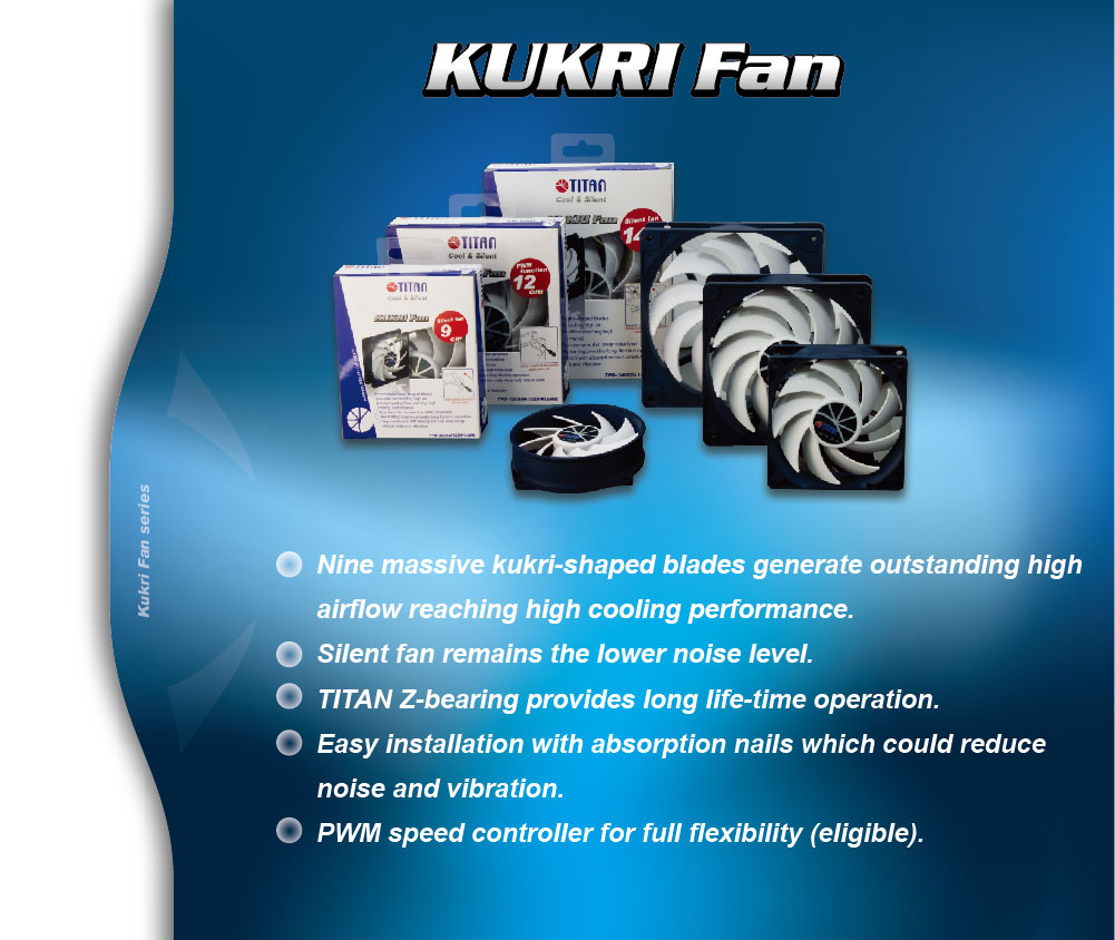 Silent Cooling fan with 9-blades, 95mm cooling fan, PWM fuction, intellegent speed control, low noise cooling fan
