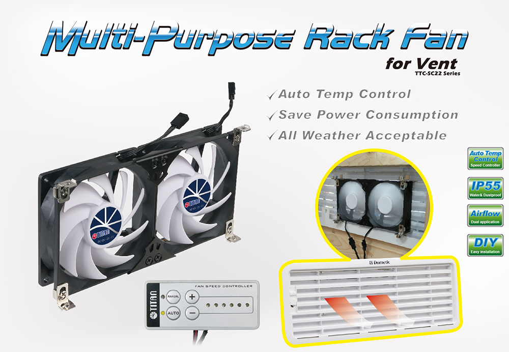 this is 12 DC multi-purose rack fan for mounting and great for refrigrator vent or any ventilation grille