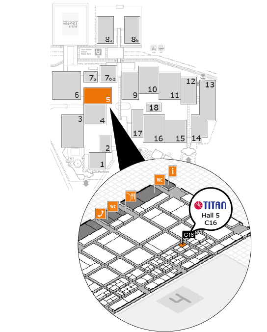 The 2017 caravan fair ground map information and the booth infomation of TITAN
