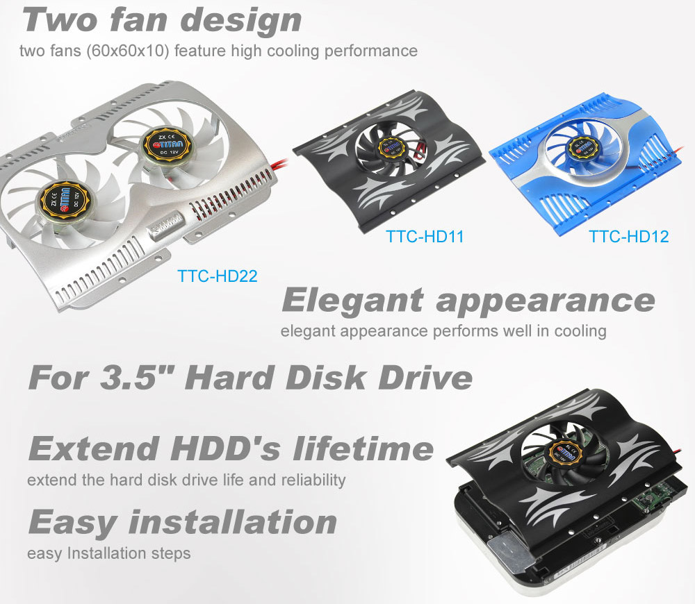 Hard disk drive cooler/HDD cooler/HDD cooling/ HDD frozen/HDD cooler fan