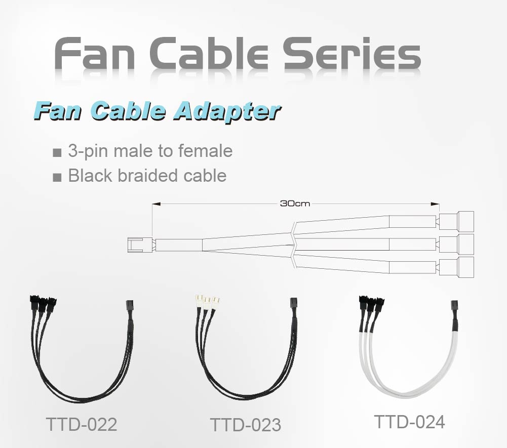 Fan cable/ fan extension cable/ 3-pin fan cable/ 3-pin cable