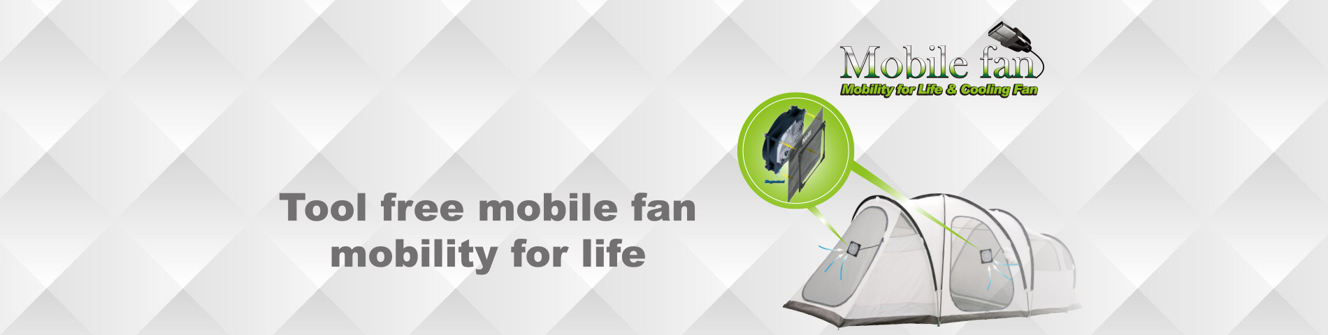 Mobile Cooing Fan Free from Tool and Heat